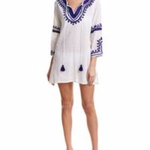 NEW! Debbie Katz Embroidered Boho Swim Coverup